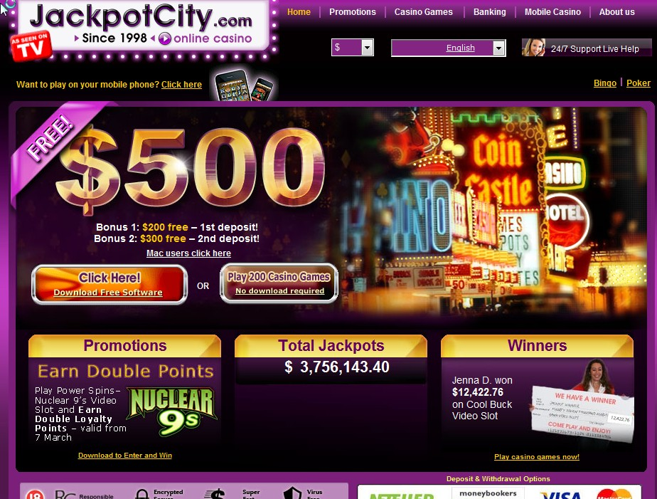 Jackpot City Best Payout